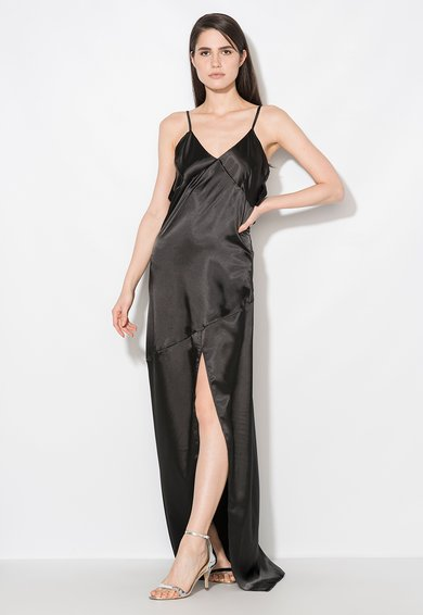 Rochie maxi neagra tip furou de la Zee Lane Collection