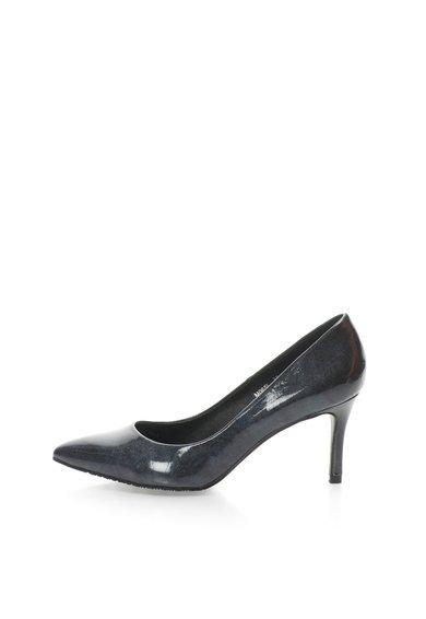 Pantofi gri hematit lacuiti cu varf ascutit de la Francesco Milano