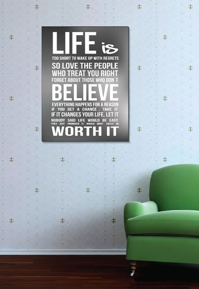 4Decor Tablou de panza Motivational Quote