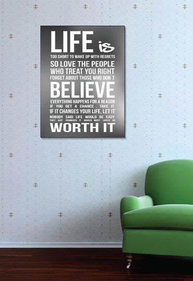 Tablou de panza Motivational Quote de la 4Decor