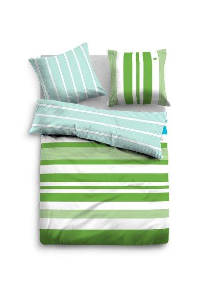 Tom Tailor Home Set de pat bleu cu verde si model in dungi