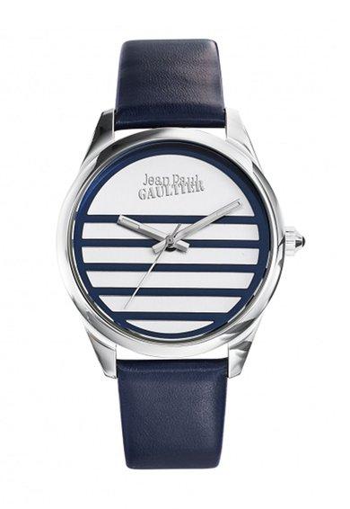 Jean Paul Gaultier Ceas bleumarin cu o curea din piele Navy