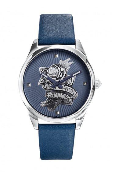 Jean Paul Gaultier Ceas albastru cu o curea din piele Navy Tattoo