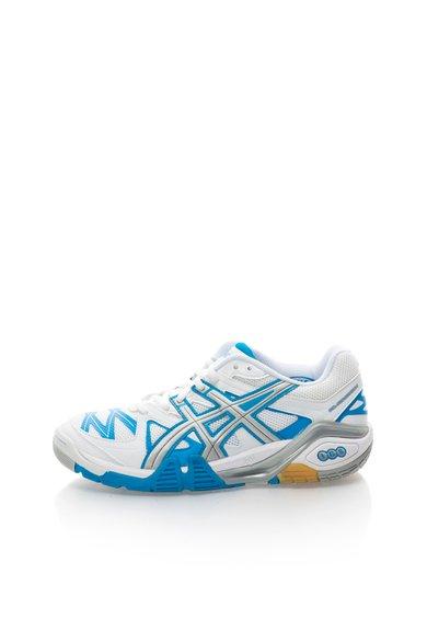 Asics Pantofi sport alb cu albastru paun Gel Progressive