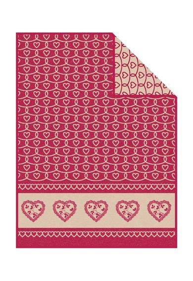 Patura rosu capsuna cu model cu inimi Tirol