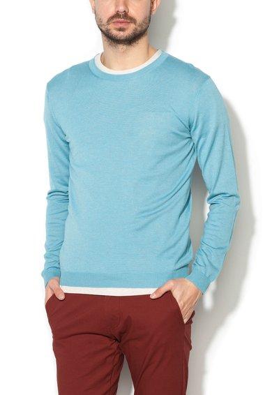 Pulover albastru aqua de la United Colors Of Benetton