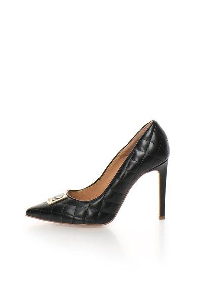 Pantofi stiletto negri matlasati