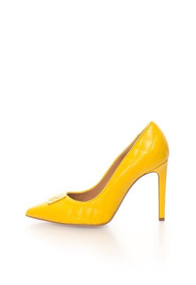 FashionDays.ro: Pantofi stiletto galbeni matlasati Love Moschino