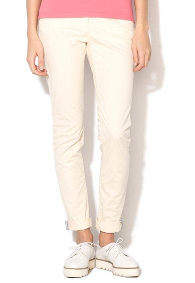 FashionDays.ro: Pantaloni conici alb fildes Lyngdal Napapijri