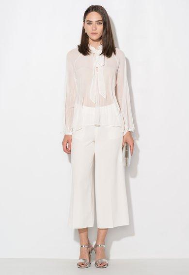 FashionDays.ro: Pantaloni culotte albi cu buzunare Zee Lane Collection