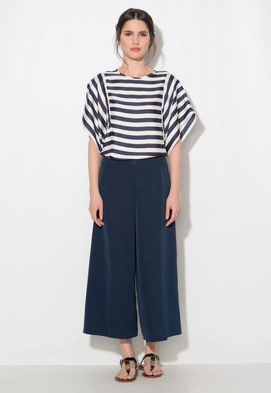 FashionDays.ro: Pantaloni culotte bleumarin cu buzunare Zee Lane Collection