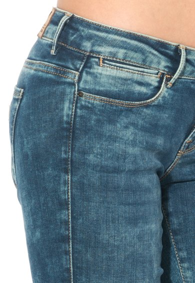 GUESS JEANS Jeansi slim fit albastri Femei image_6