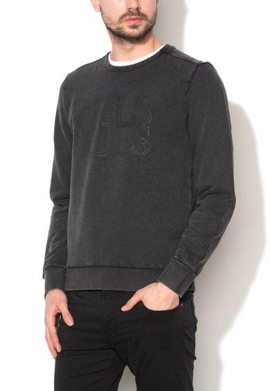 GUESS JEANS Bluza sport negru stins cu imprimeu logo Peter