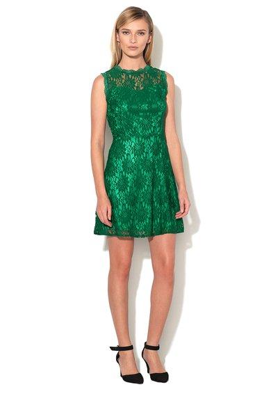 Iska Rochie verde smarald de dantela fara maneci