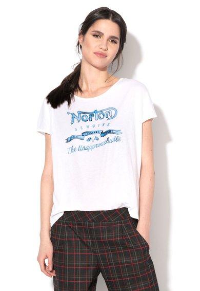Norton Tricou alb cu imprimeu logo Amelia