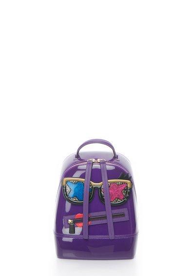 Furla Rucsac convertibil cauciucat violet Candy