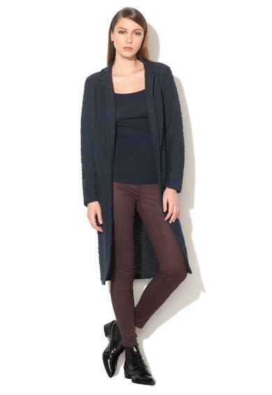 FashionDays.ro: Cardigan lung bleumarin din boucle cu buzunare frontale EDC by ESPRIT