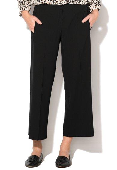 FashionDays.ro: Pantaloni negri din pique Fornace Marella
