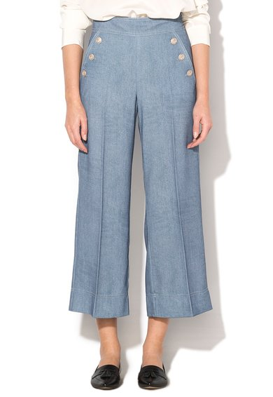 FashionDays.ro: Pantaloni crop evazati albastri Golia Marella