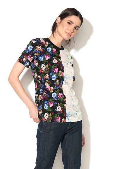FashionDays.ro: Tricou negru cu segment de matase contrastant Holiday Sportmax Code