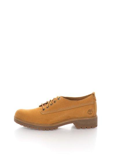 Pantofi maro camel de piele nabuc de la Timberland