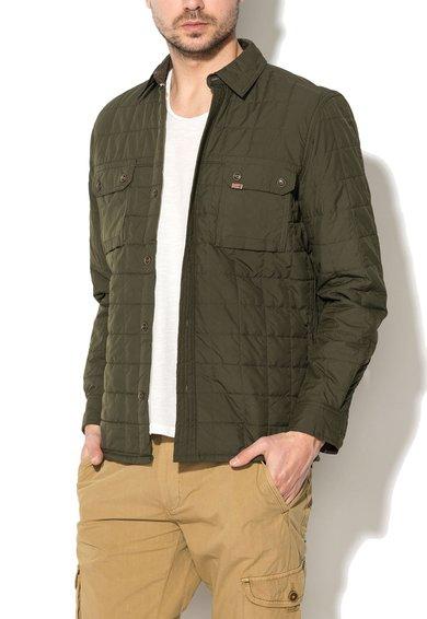 FashionDays.ro: Jacheta verde militar matlasata cu buzunare Timberland