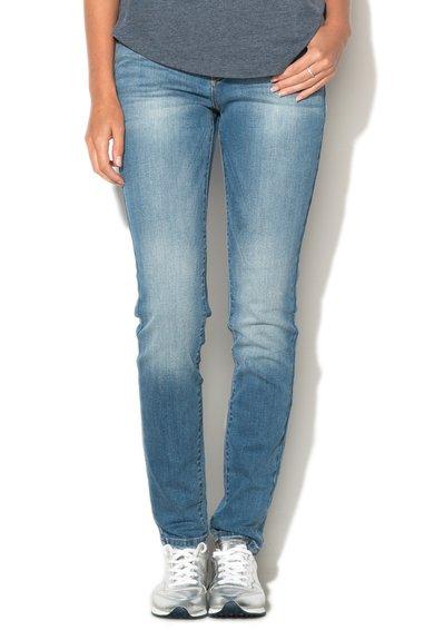 ESPRIT Jeansi skinny bleu cu aspect uzat