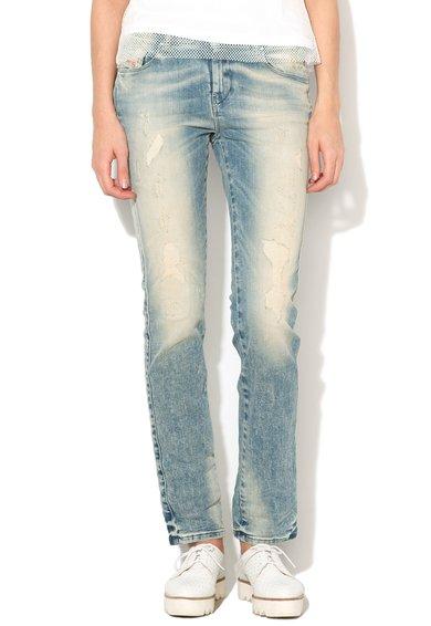 Diesel Jeansi drepti albastru decolorat cu aspect deteriorat Sandy