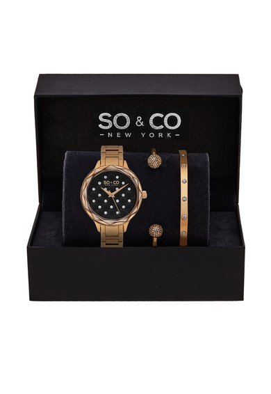 SOCO New York Set auriu rose cu ceas si bratari Madison – 3 piese
