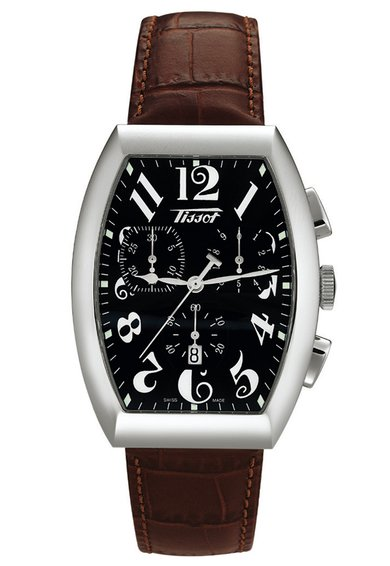 FashionDays.ro: Ceas cronograf maro cu argintiu Tissot