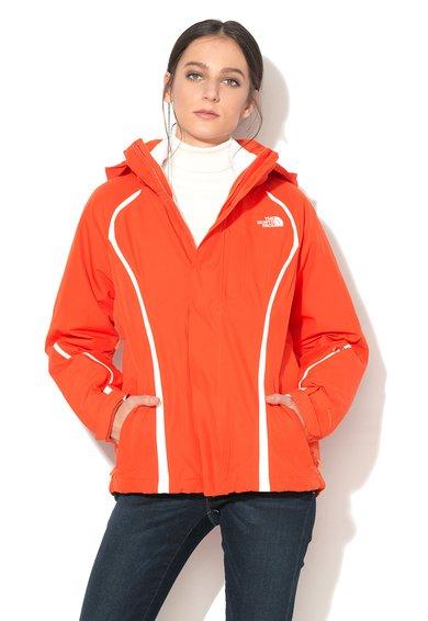 The North Face Geaca 2in1 oranj cu alb Kira Triclimate