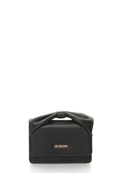 FashionDays.ro: Geanta mica neagra cu maner in forma de funda Love Moschino
