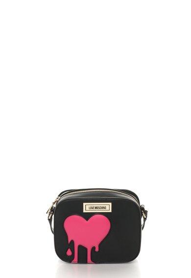 Geanta mica negru cu roz aprins de la Love Moschino