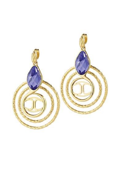 Just Cavalli Cercei aurii cu cristal violet Just Hipnose