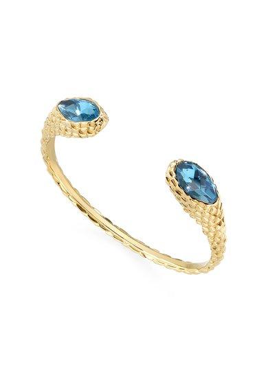 Just Cavalli Bratara rigida texturata cu cristale albastre Just Drop