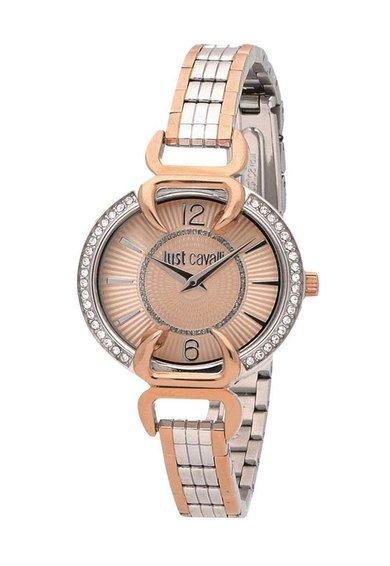 FashionDays.ro: Ceas argintiu cu auriu rose si cristale Just Luxory Just Cavalli