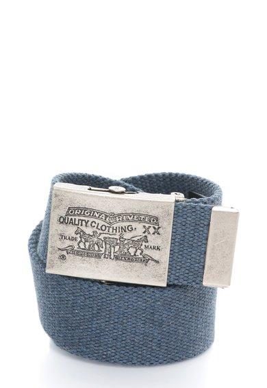 FashionDays.ro: Curea bleumarin stins de material textil cu catarama gravata Levis