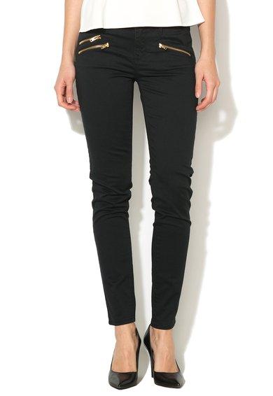 Juicy Couture Pantaloni skinny negri Moto
