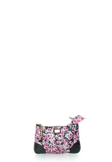 Juicy Couture Geanta crossbody negru cu roz si imprimeu floral