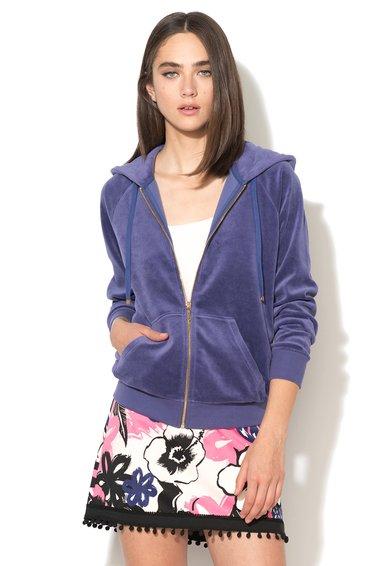 Juicy Couture Hanorac violet cu croiala lejera si fermoar Moon
