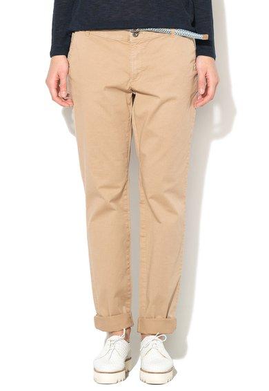 Pantaloni chino bej nisip