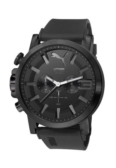 Ceas cronograf negru