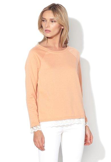 Vero Moda Bluza sport oranj persan cu broderie din plasa Gry