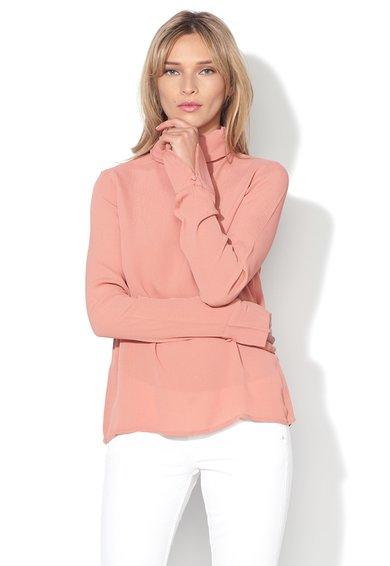 FashionDays.ro: Bluza rosu teracotta cu guler rasucit High Class Vero Moda