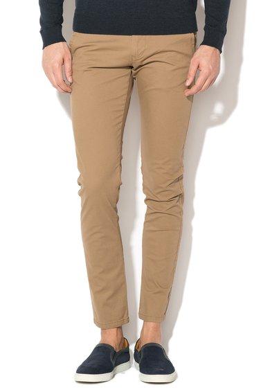 FashionDays.ro: Pantaloni chino maro nisip Selected Homme