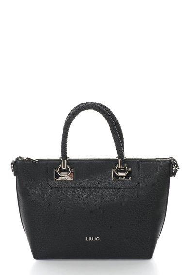 FashionDays.ro: Geanta shopper neagra cu textura saffiano Liu Jo