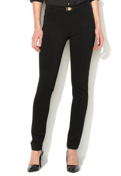 FashionDays.ro: Pantaloni elastici negri cu striatii VERSACE JEANS
