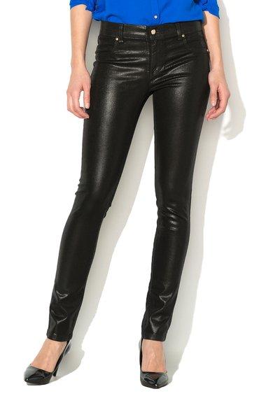 FashionDays.ro: Pantaloni skinny negri cu model reptila VERSACE JEANS