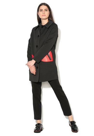FashionDays.ro: Haina neagra texturata cu inimioare aplicate Love Moschino
