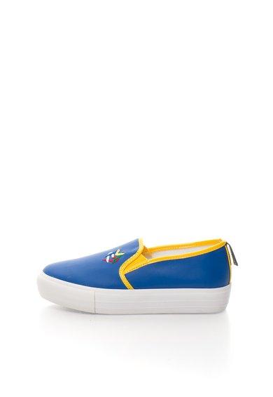 FashionDays.ro: Pantofi slip-on flatform albastri Love Moschino